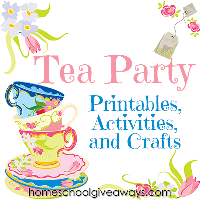 Tea Party Printables and Crafts