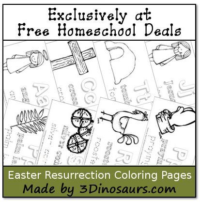 Free Instant Download Easter Resurrection Coloring Pages