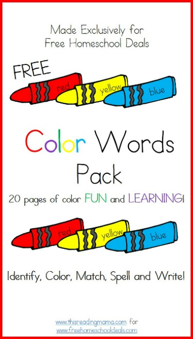 free color words pack this reading mama for free homeschool deals - Free Color Word Worksheets