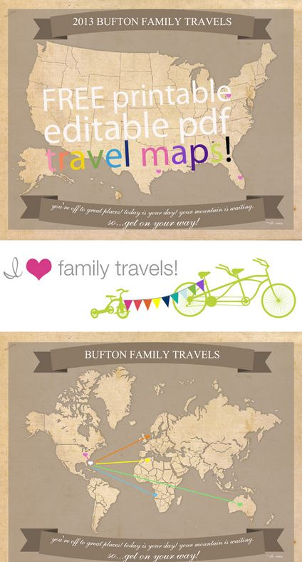 free printable family travel maps  united states and world