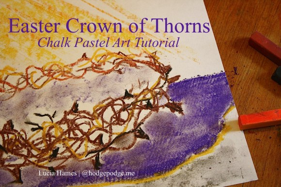 Easter-Crown-of-Thorns-Chalk-Pastel-Art-Tutorial