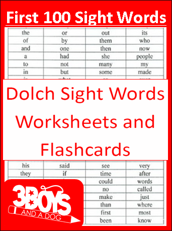 Nifty image inside kindergarten sight words list printable