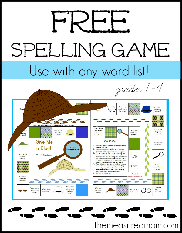 free spelling game for grades 14 use with any word list