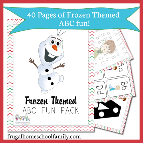 Free Frozen Themed Abc Printables Pack Free Homeschool