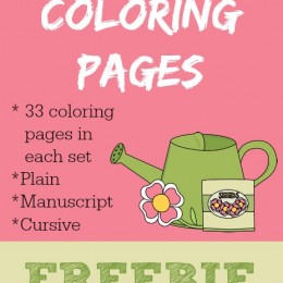Free Gardening Coloring Printable Pages