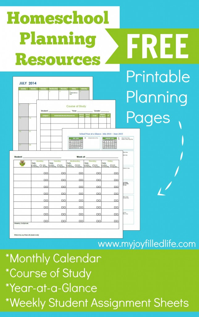 Free Homeschool Planning Resources and Printables | Free ...