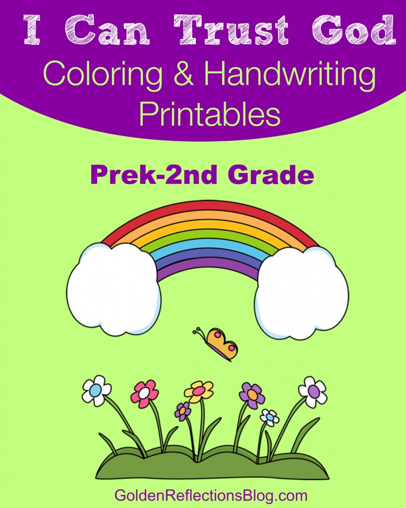 Free I Will Trust God + Coloring & Handwriting Printable Packet ...
