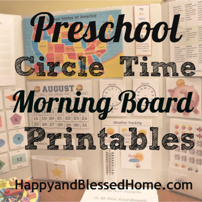 Free Preschool Activities Circle Time Morning Board Free