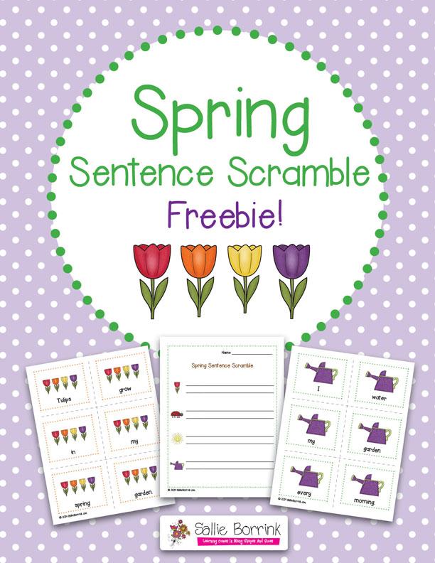 FREE Spring Sentence Scramble Activity (subscriber offer ...