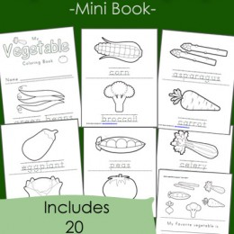 Free Vegetable Coloring Pages (20 page set!)