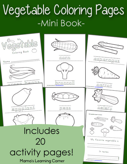 free vegetable coloring book pages - photo#33