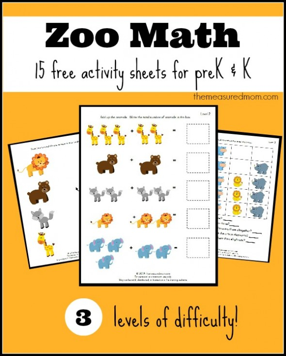Free Printable Zoo Worksheets For Preschool And