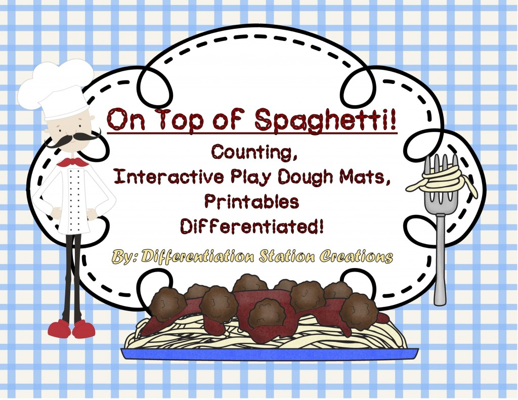 Free Quot On Top Of Spaghetti Quot Interactive Playdough Mats