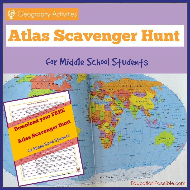 Free atlas scavenger hunt printable for middle school students free atlas scavenger hunt printable for middle school students free homeschool deals gumiabroncs Image collections