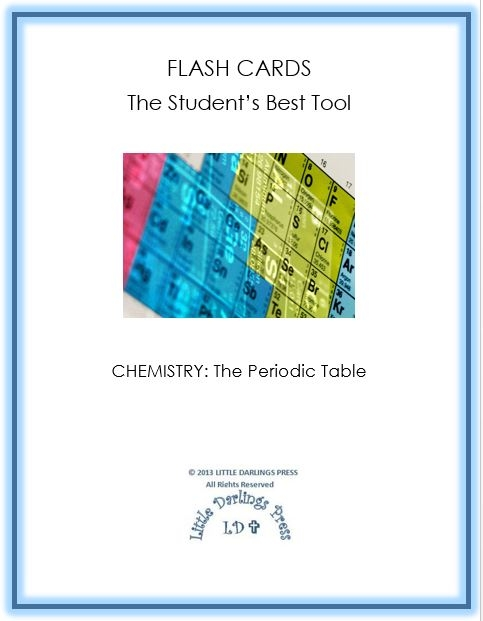 Free chemistry flash cards periodic table elements free for 1 20 periodic table