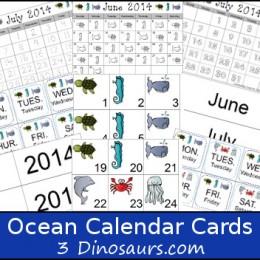 Free Ocean Calendar Set