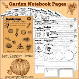 Free Garden Notebooking Pages {Subscriber Freebie}