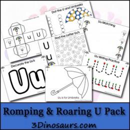 Free Printables: Romping & Roaring U Pack