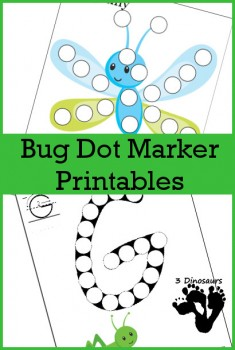 Free Bug Dot Marker Printables Set Free Homeschool Deals