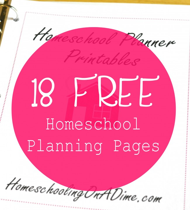 Must Read Homeschool Articles For Encouragement And: FREE Printable Homeschool Planner Pages {subscriber