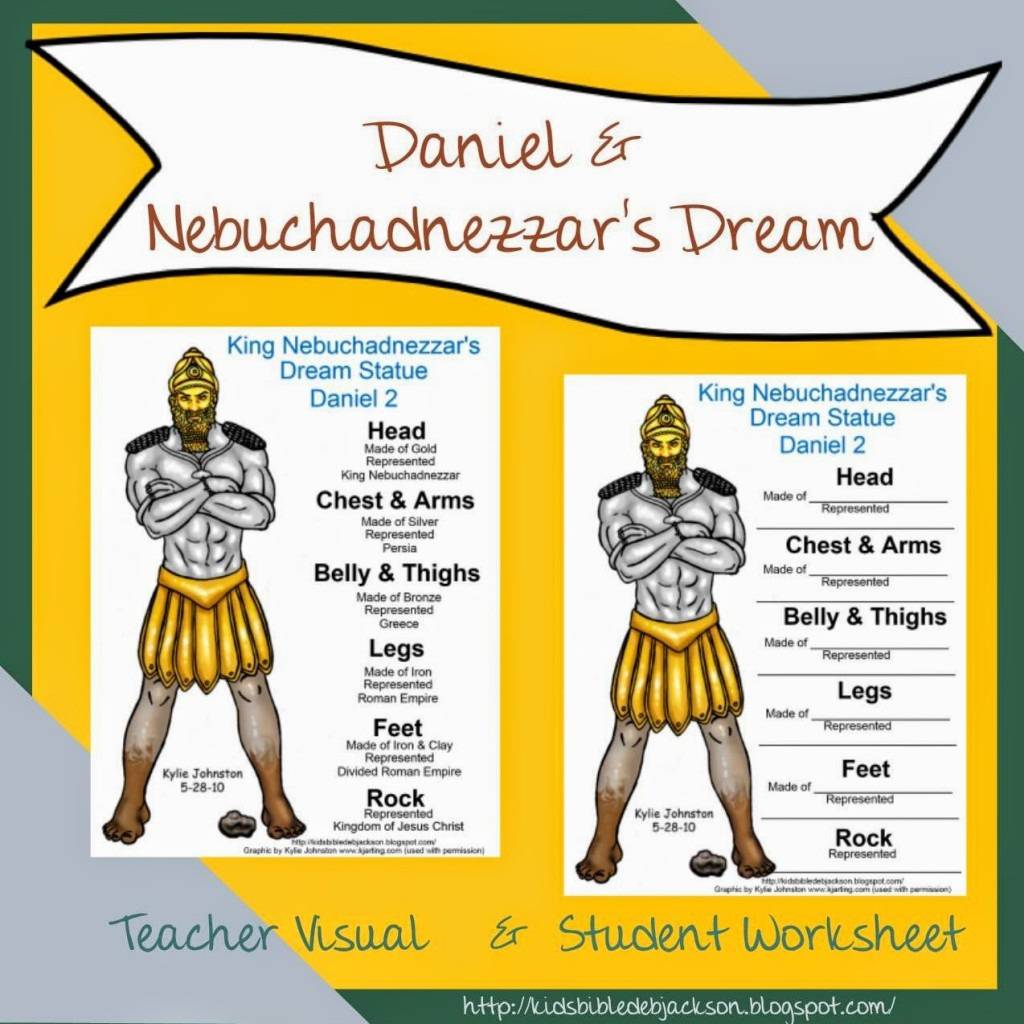 Bible Lesson and FREE Printable Daniel Nebuchadnezzars
