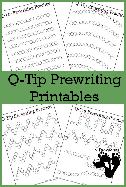 free q tip prewriting printables free homeschool deals