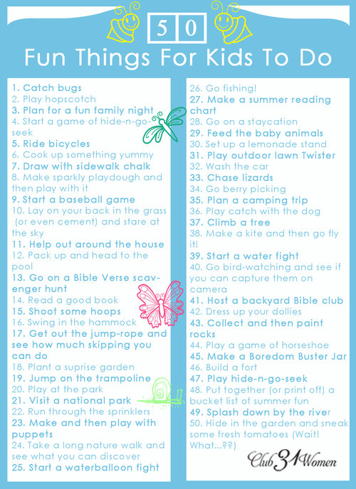 50 fun things to do with kids printable free homeschool deals. Black Bedroom Furniture Sets. Home Design Ideas