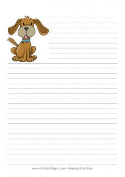 This Cute Dog Paper Is Only One Of 35 Choices Of Animal Print Paper You Can  Print For Your Child From Activity Village! They Have Most Every Animal  Your ...  Print Writing Paper
