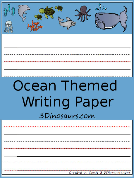 themed writing paper for students