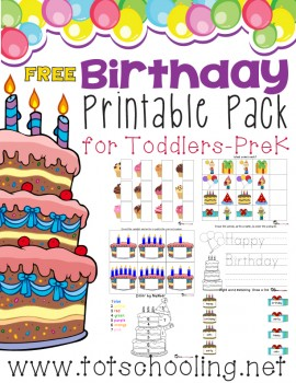 free birthday printable pack for prek k free homeschool deals. Black Bedroom Furniture Sets. Home Design Ideas