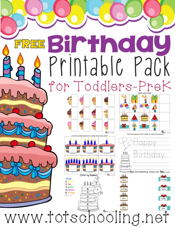 free birthday printable pack for prek k free homeschool deals. Black Bedroom Furniture Sets. Home Design Ideas