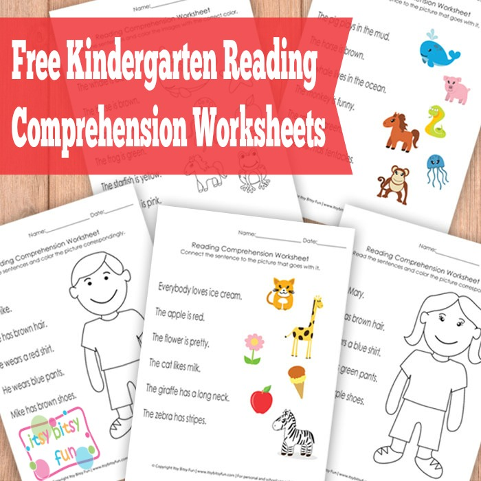 FREE Kindergarten Reading Comprehension Worksheets – Reading Kindergarten Worksheets