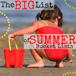 The Big List of Summer Bucket Lists