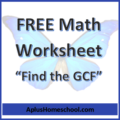 FREE Math Worksheet: Find the Greatest Common Factors | Free ...