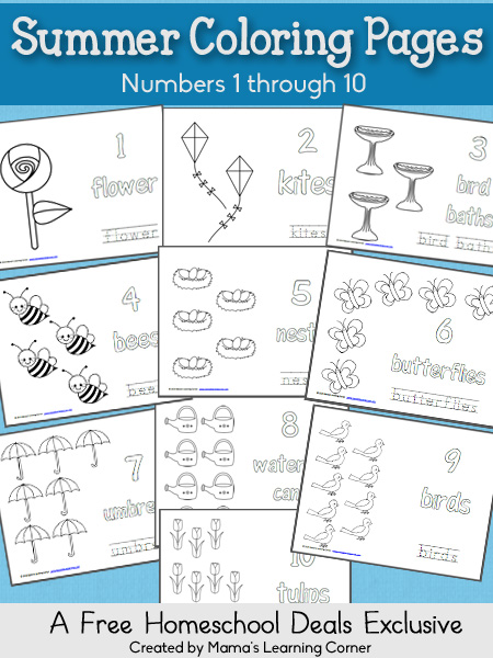 number names worksheets coloring pages numbers 1 10 free summer coloring pages numbers - Coloring Pages Numbers 1 10