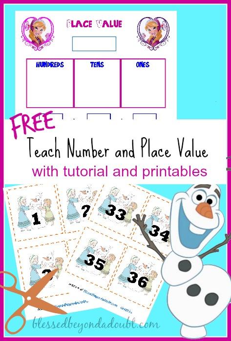place value number recognition free printables free homeschool deals. Black Bedroom Furniture Sets. Home Design Ideas