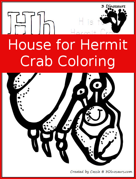 FREE House For Hermit Crab Coloring Pages