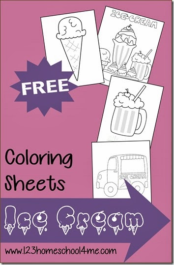 Printable Ice Cream Coloring Sheets