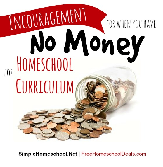 no money for homeschool curriculum