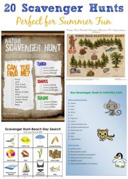 20 Free Printable Summer Scavenger Hunts For Kids Free