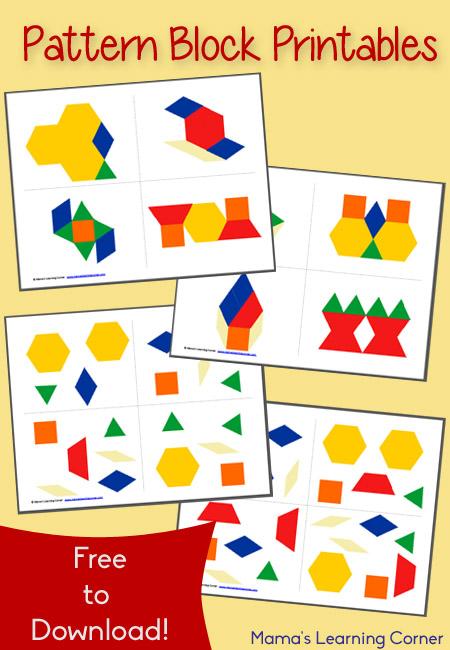 Free Pattern Block Printables Free Homeschool Deals