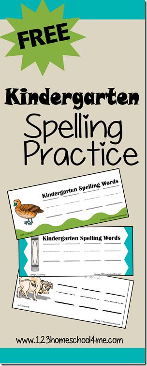 Kindergarten Spelling Practice Freebie Free Homeschool