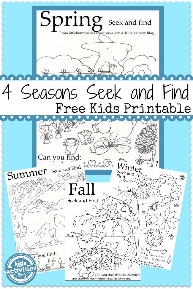 free printable 4 seasons seek and finds free homeschool deals. Black Bedroom Furniture Sets. Home Design Ideas
