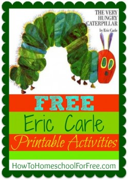 Very Hungry Caterpillar Free Printables  Free Homeschool Deals