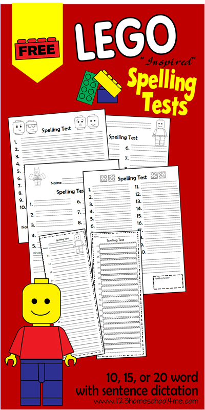 Printables 6th Grade Homeschool Worksheets free lego spelling test printables and blank worksheets capture