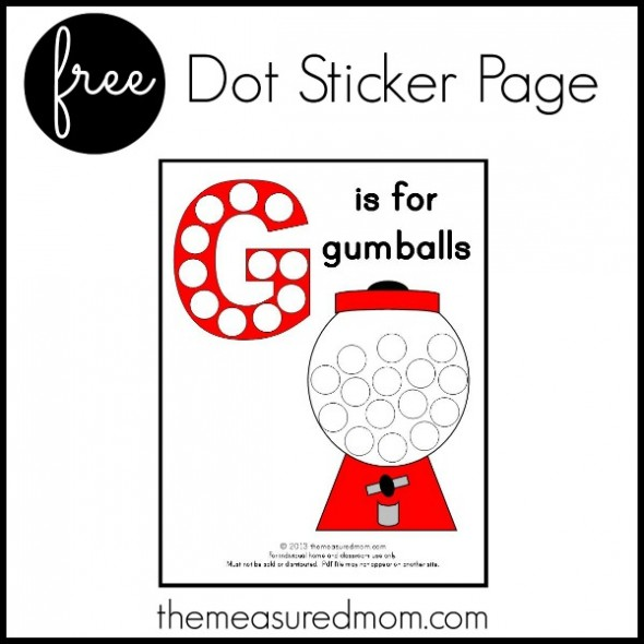 Free g is for gumball printable free homeschool deals for Letter g decoration