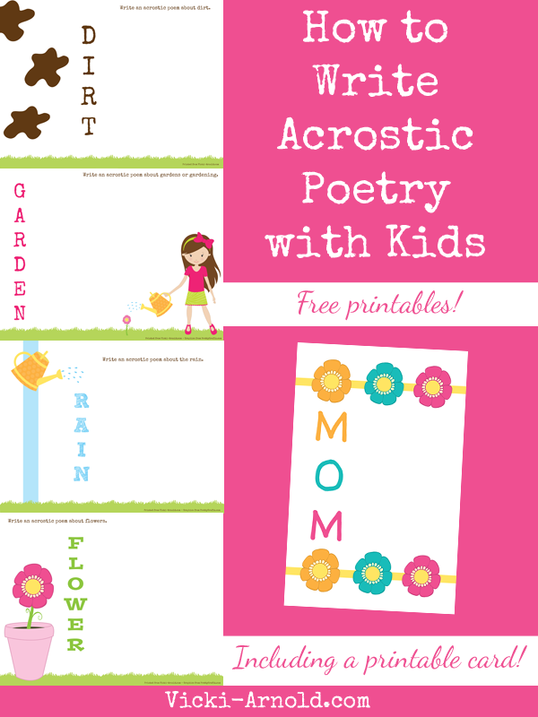 how to write an acrostic poem