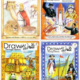 Draw and Write Through History Series: Cursive Copywork and Historical Curriculum Combined!