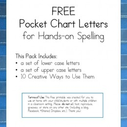 FREE Pocket Chart Letters for Hands-On Spelling Download