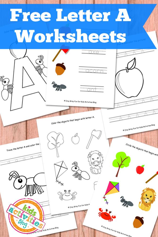 free letter a worksheet free homeschool deals. Black Bedroom Furniture Sets. Home Design Ideas
